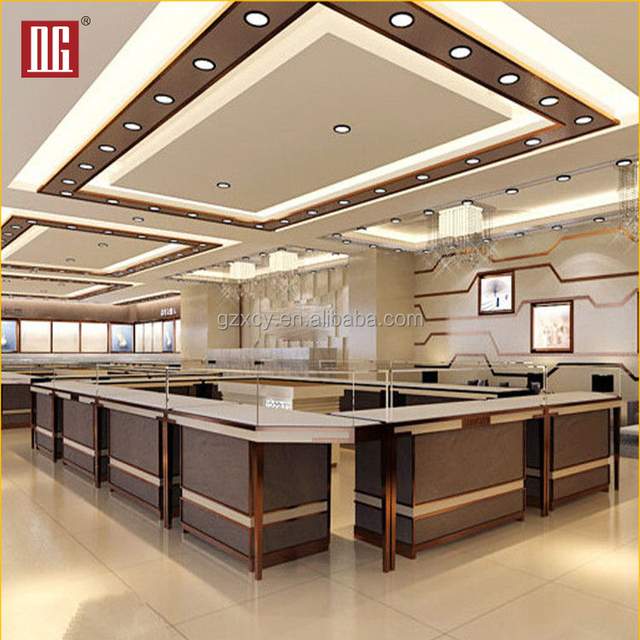 Wholesale Design High End Luxury Jewelry Store Product Display Showcase Ideas