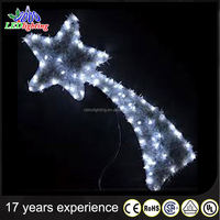 CE RoHS Outdoor decoration led 2D big star