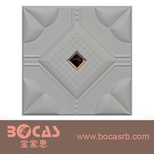 400*400MM 3d leather wall panel&Hot stamping instead of gypsum board