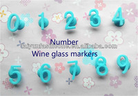 alibaba china supplier wholesale silicone rubber suction cup wine glass marker