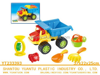 Plastic funny sand toy outdoor toy summer to beach truck beach toy set for kids!