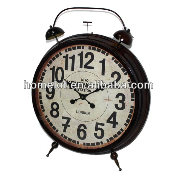 Hot Sale!!! KENSINGTON Big Metal Antique Brown Floor Standing Clock