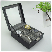 newest arrival pu leather rotating jewellery stand display case
