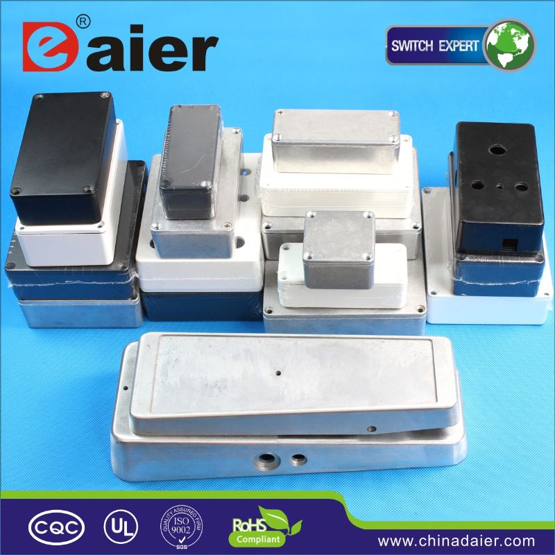DAIER anodized brushed aluminum extruded box