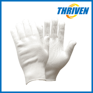 Thriven White Gloves White Color 13 Gauge Cotton Gloves For Military Parade