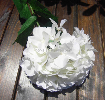 artificial white hydrangea flower for wedding