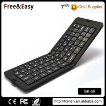 hot sale bluetooth 3.0 mini wireless foldable keyboard for Android MAC Windows
