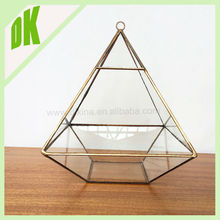 copper&black color Crystal Clear Tube Shape Glass Vase for Home/Office/Restaurant/Hotel Decoration // geometric glass hotel vase