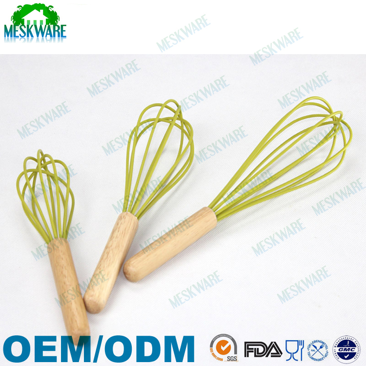 FDA approval silicone mixer egg beater with plastic hand
