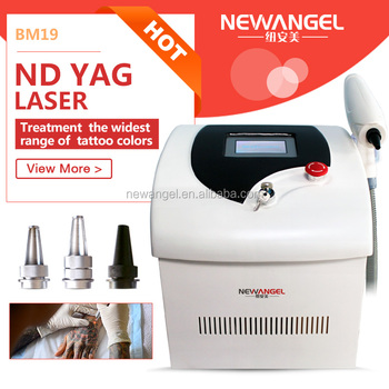 Mini portable 1300j skin treatment q-switched nd yag laser tattoo removal