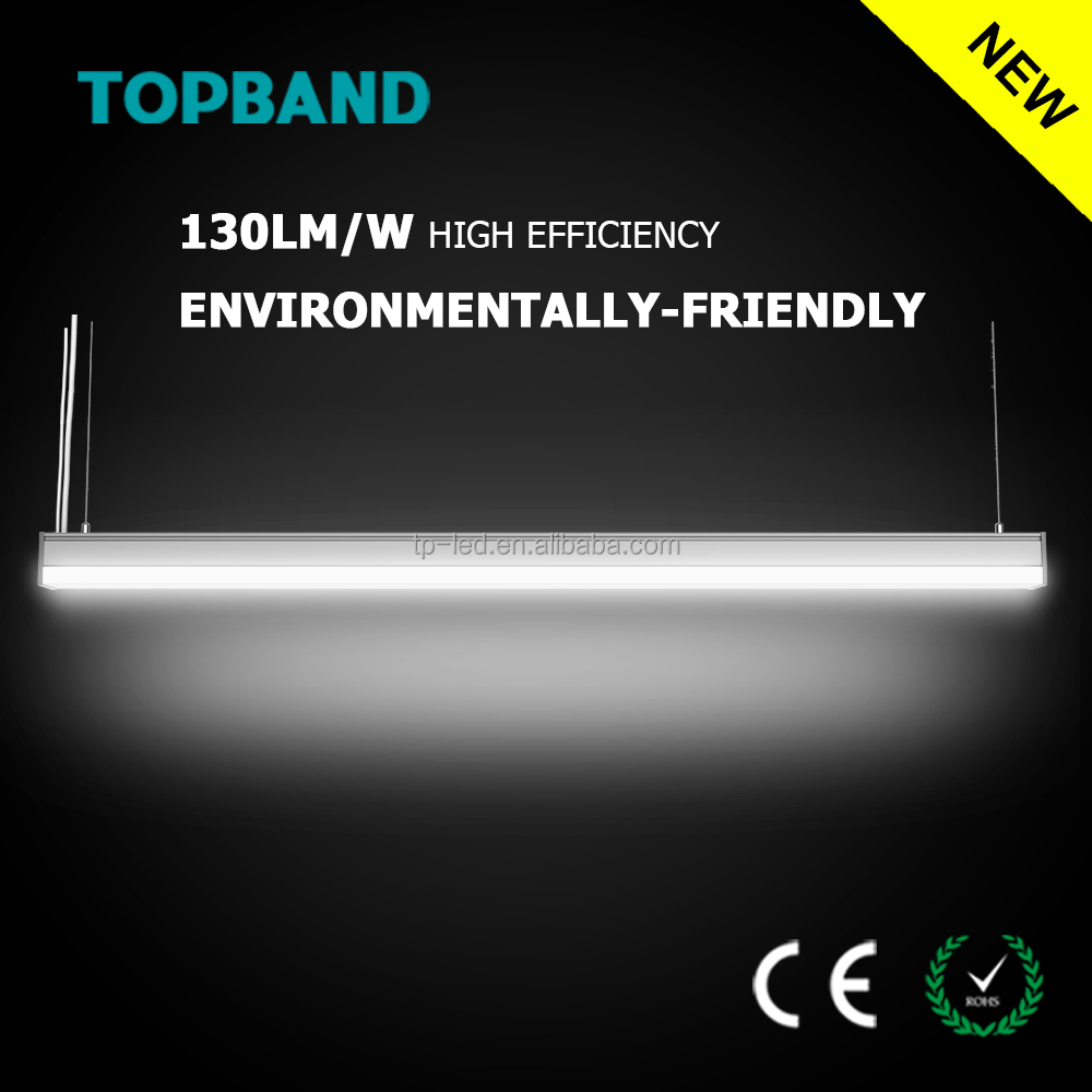 130LM/W 50w 5ft ce rohs led linear fixtures supermarket/office linear light