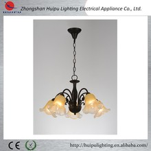 2015 modern black color glass chandelier with trade assurance supplier