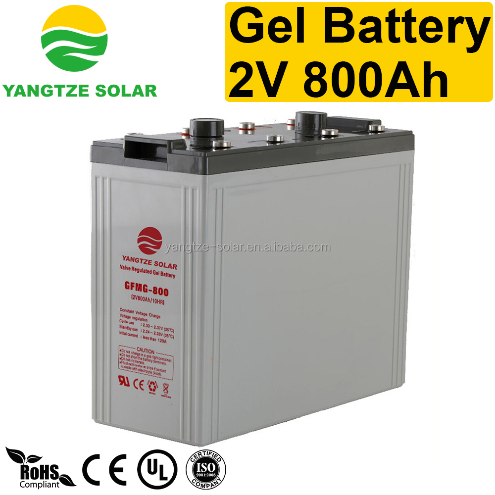 Free shipping GEL 2v 800ah solar energy battery