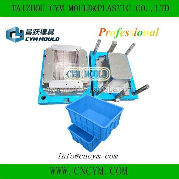 high quality customer made injection plastic turnover crate mold