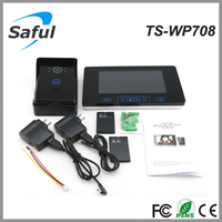 Saful TS-WP708 waterproof 7 inch take pictures wireless intercom home