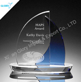 Wholesale China boat shipping theme blank trophy glass award for engraving