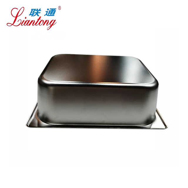 Full sizes factory 327x265x150mm SS201Anti-Jam Stainless Steel 1/2 GN Pan