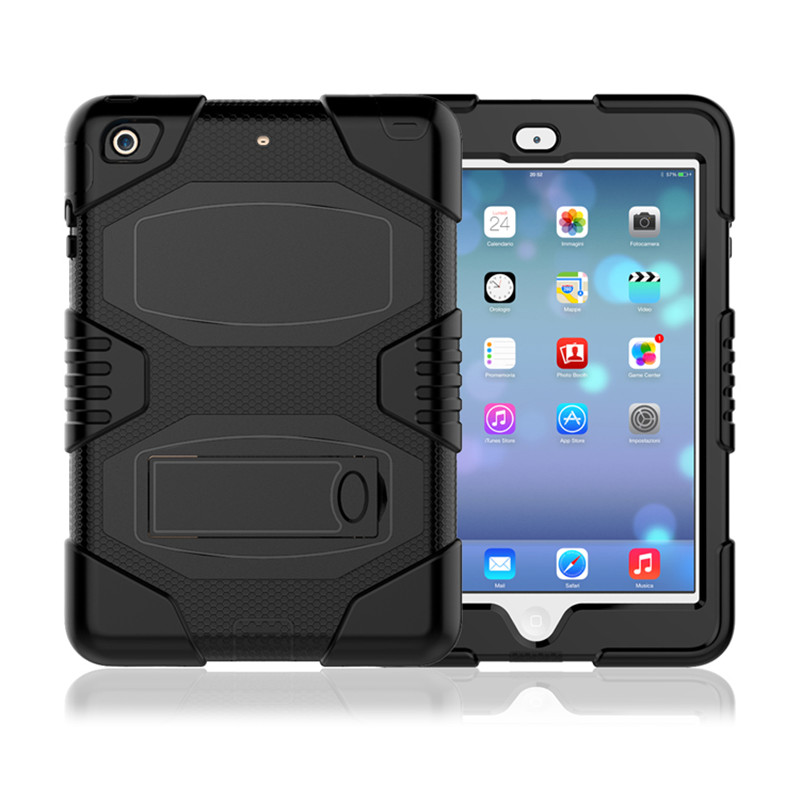 Durable Rugged Armor Silicon Dropproof Cover 10.1 Child Proof Kickstand Case For iPad Mini 3 Tablet