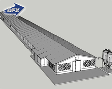 Modern Design Steel Structure Prefab Poultry House for 10000 Chickens