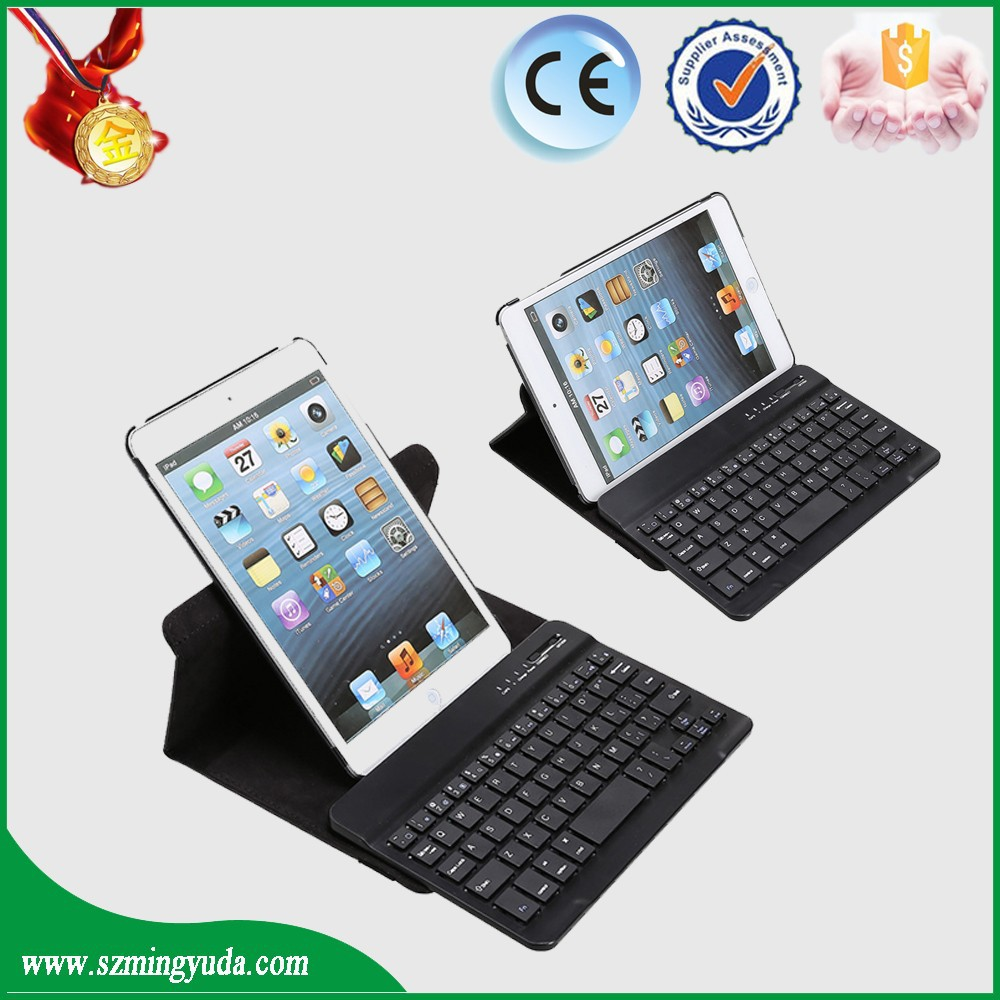 360 degree rotating case wiht separated bluetooth keyboard for ipad mini