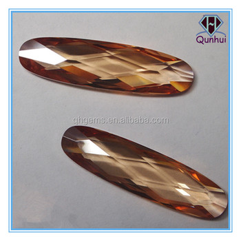 The Charm 5*10mm any color oval shaped cubic zircon stone