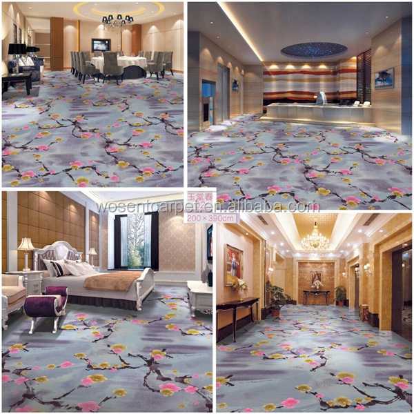 High quality low price floral axminster carpet for banquet hall
