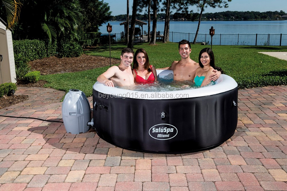 2016 Lay-Z-Spa Miami AirJet Inflatable Spa Tubs Type 2 person inflatable hot tub made in china,shanghai