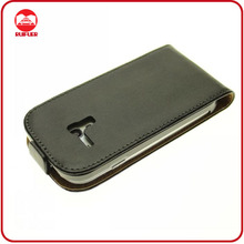 Hot Selling 100% Real Genuine Leather Magnet Flip Cover for Samsung Galaxy S3 Mini I8190