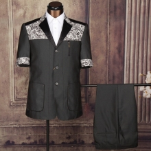 indian wedding suits for men dark grey safari suit 3 button suit mens