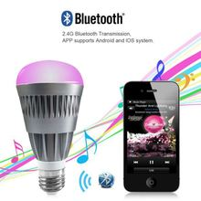 Super bright android phone bluetooth led bulb smd 85-265V 180degree