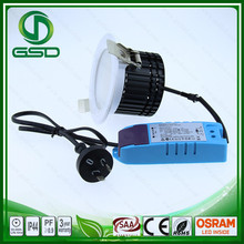 LED downlight surface mounted cylinder adjustable RUST COLOUR 12w dimmable