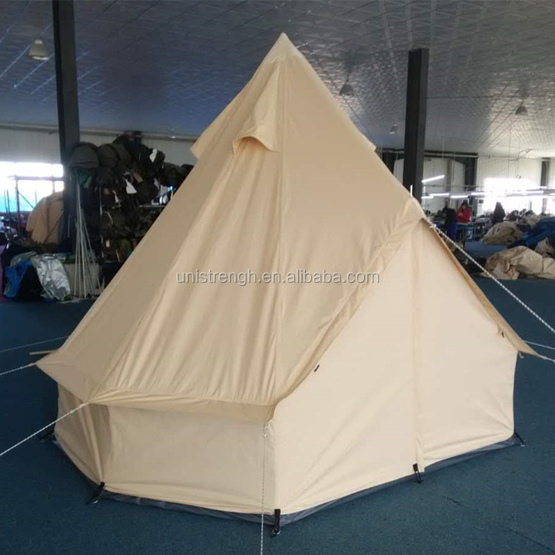 Luxury Glamping Waterproof Cotton Canvas 3m Bell Tent