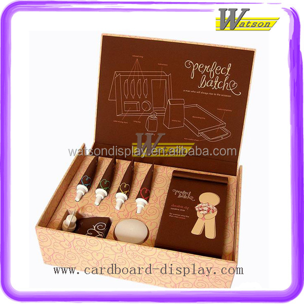 Perfect Design Fancy Brown Cosmetic Cardboard Gift Box