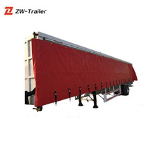 Chinese Best Price ZW Brand 3 Axles Curtain Slider Semi Trailer For Sale