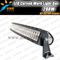 "No warm-up 288W curved light bar,96pcs*3w 50"" inch C REE LEDs 4x4 C ree Curved Led Light bar Off road,auto led light arch bent"