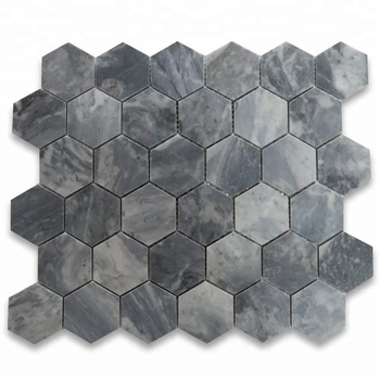 Decorstone24 Italian Bardiglio Nuvolato Gray Marble Mosaic Tile From China Factory