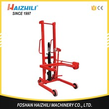2017 factory direct manual oil drum lifter, hot sale mobile 350kg drum carrier