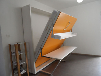 2013 popular creative space saving folding wall bed