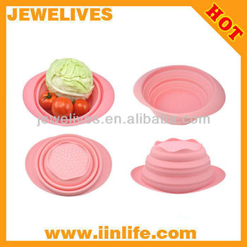 2014 eco-friendly collapsible silicone fruit basket