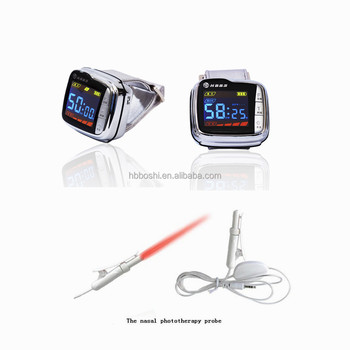 Home Use Cold Laser Watch Reduce Hypertension Physiotherapy Device