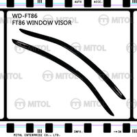 For Toyota FT-86 Windows Visor, Window Deflectors
