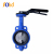 Cast iron without pin type wafer butterfly valve With Hand Wheel