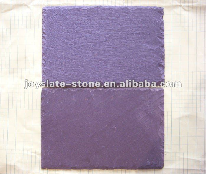 Cheap natural slate purple roof tile