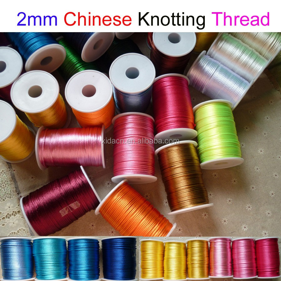 colorful 100yard/roll Chinese Knotting Nylon Thread Cord