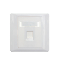 Network 1 port wall mounted white face plate