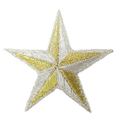 gold embroidery star patches/iron on star patch