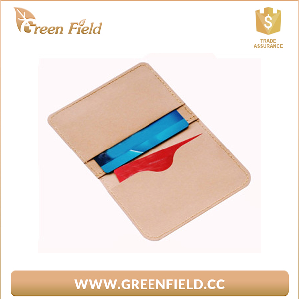 Eco material washable kraft paper business card holder