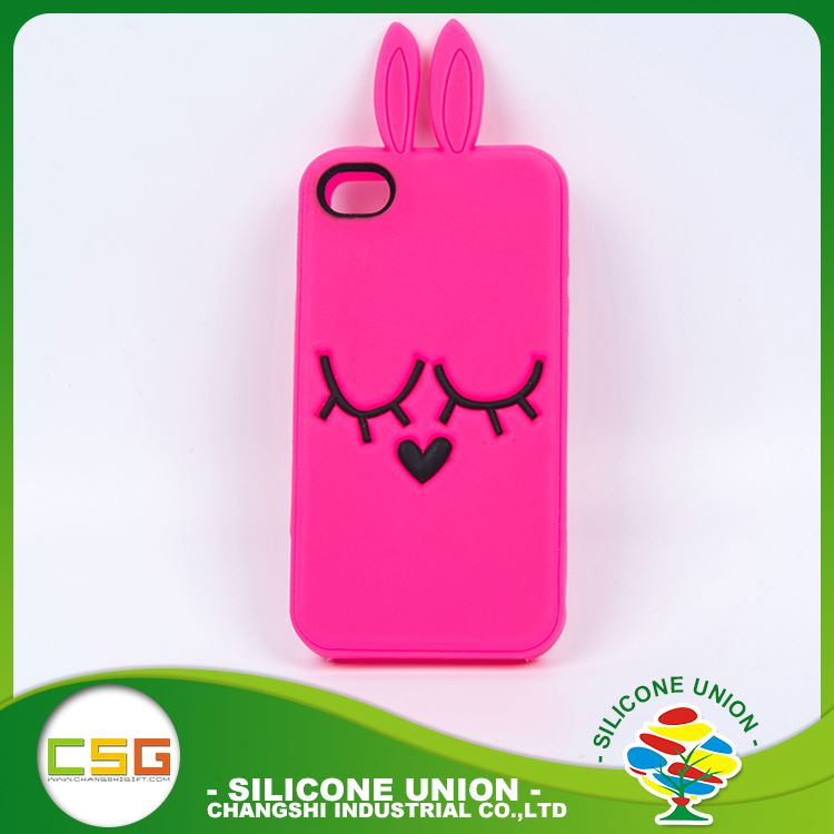 Standard level cartoon logo multi-functional silicone cell phone case cover