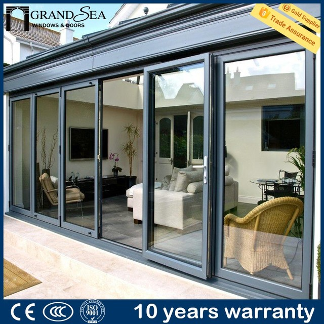 Economic price interior partition usage automatic stainless steel cheap large industrial folding door for gate