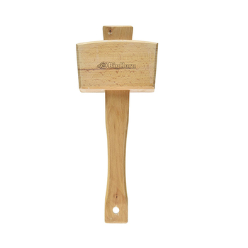 Wooden ice crushed mallet hammer with hole